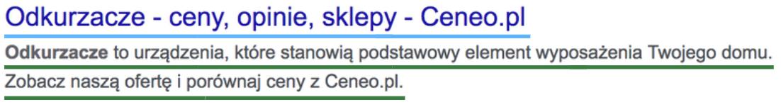 Google - meta title i description