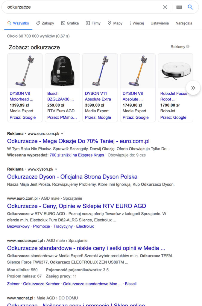 Wyniki Wyszukiwania