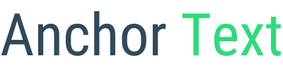 Anchor Text - Seo Services