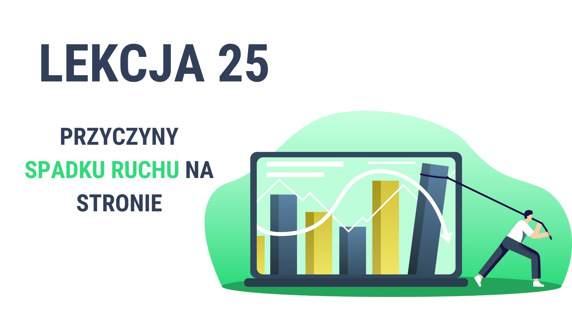 Lekcja 25 - Przyczyny spadku ruchu na stronie