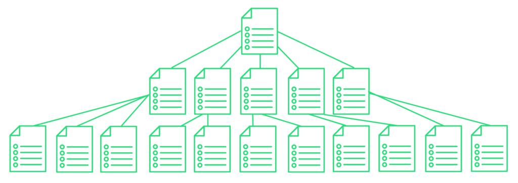 Płaska architektura witryny