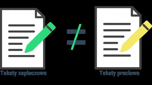 Teksty zapleczowe i preclowe